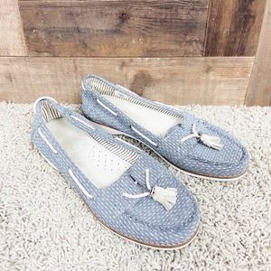 Toms Blue Dot Slip-On Boat Shoes